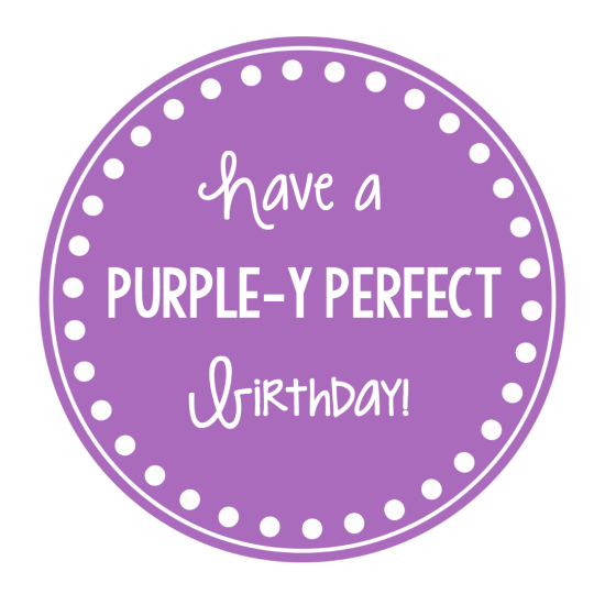 Purple Gift Tag for Birthdays
