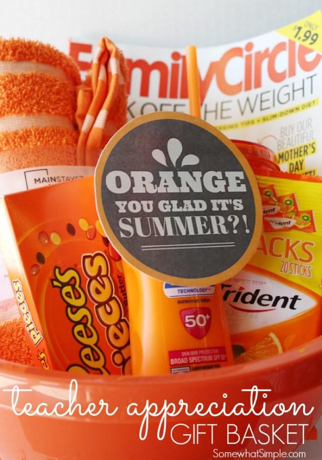 Orange Themed Teacher Gift Ideas