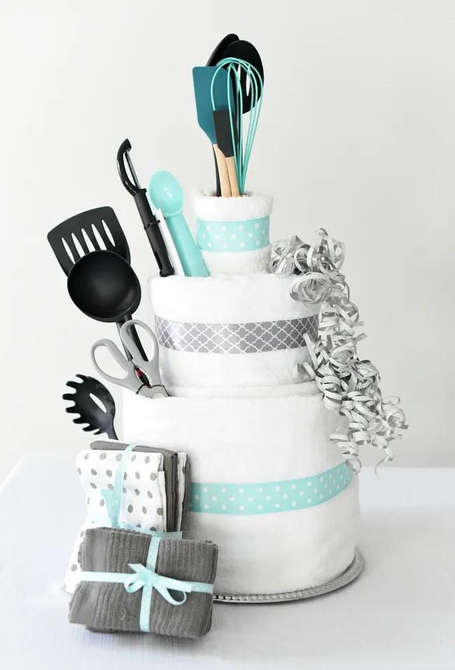 Towel Cake A Fun Diy Bridal Shower Gift Fun Squared
