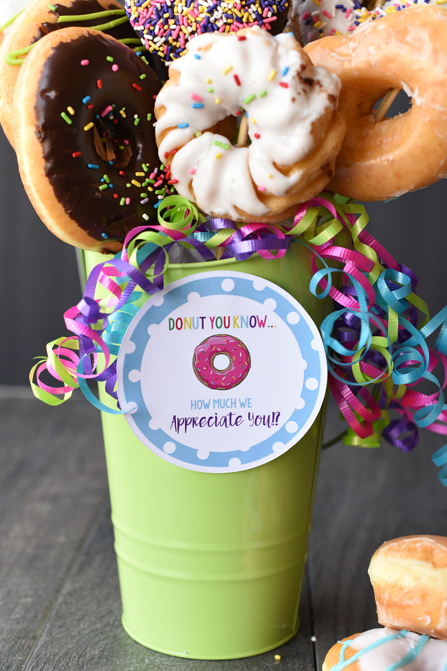 Teacher Appreciation Doughnut Bouquet