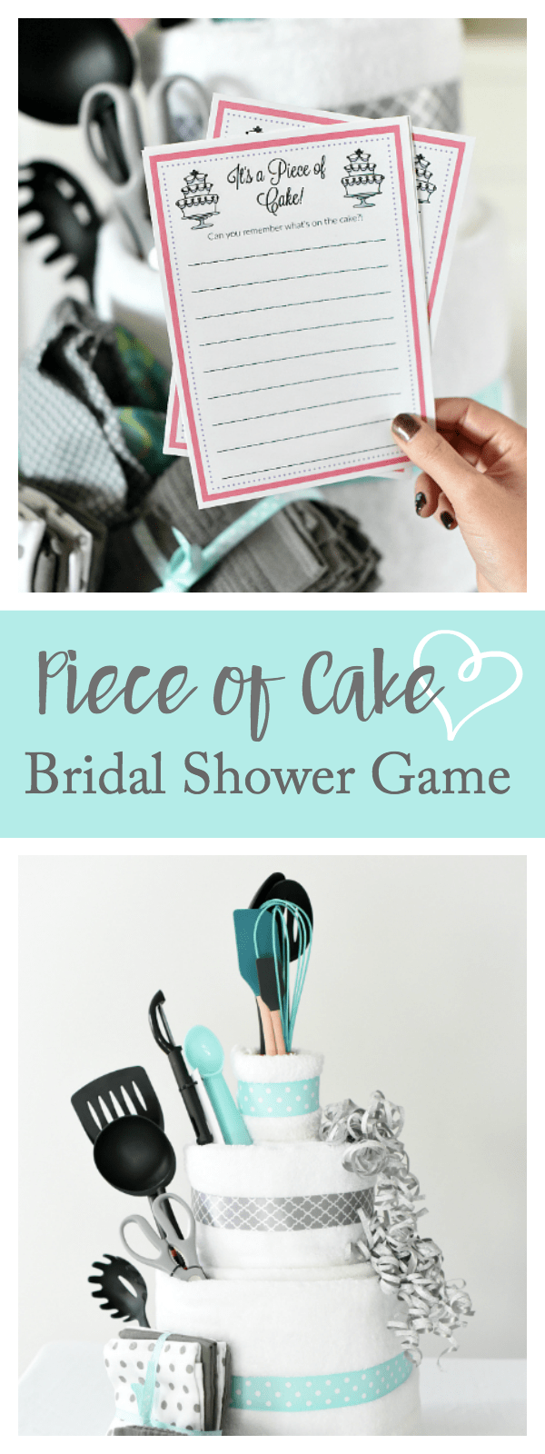 Fun Bridal Shower Game Idea-Piece of Cake Memory Game. This fun bridal shower game is perfect for your next party. #bridalshowergames #fungames #funwithbridalshowergames