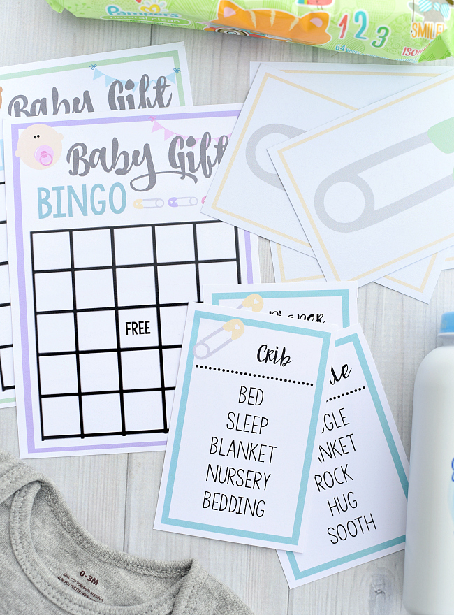 Free Printable Baby Shower Games for Large Groups-Print and play this baby gift bingo, baby shower taboo, or baby shower matching game! Great baby shower games that are easy to play! #babyshower #babyshowerideas