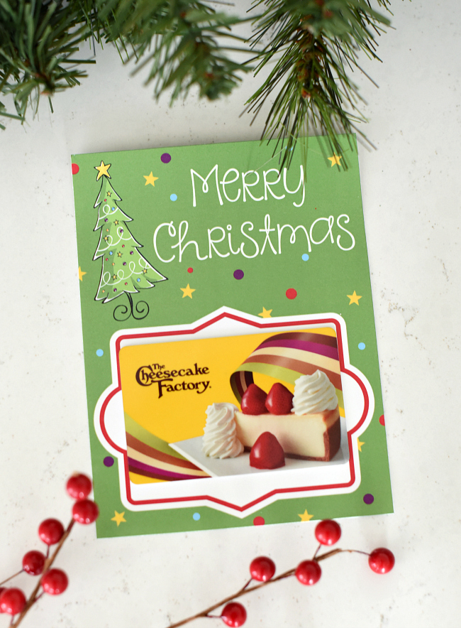 Free Christmas Gift Card Holders