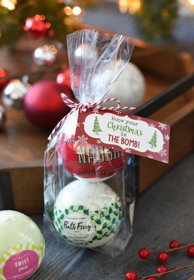 Bath Bombs Christmas Gift Idea for Friends