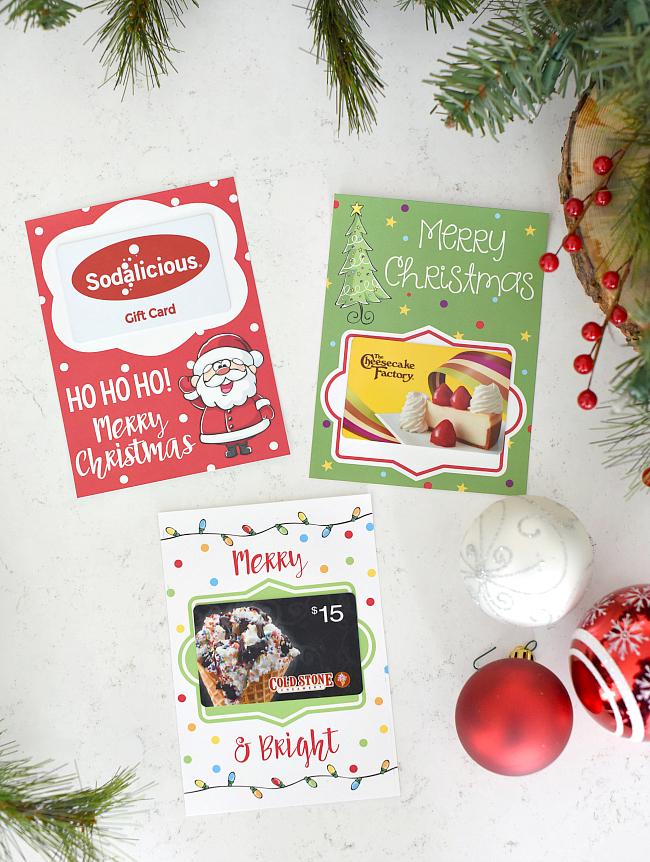 Printable Christmas Gift Card Holders – Fun-Squared
