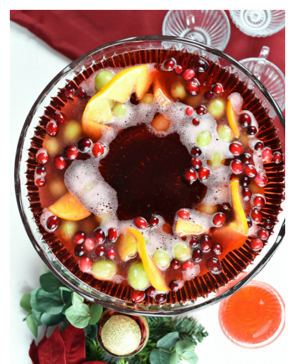 Holiday Punch Bowl Ice Ring-A fun addition to all of your holiday parties. Great for Christmas or New Year's.