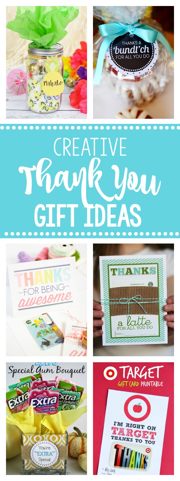 25 Creative & Unique Thank You Gift Ideas-Fun & Creative Ways to Say Thanks to anyone! Whether it's a teacher, a friend, a coworker or anyone you need to thank, these thank you gifts are perfect for it! #gifts #giftideas #thankyou