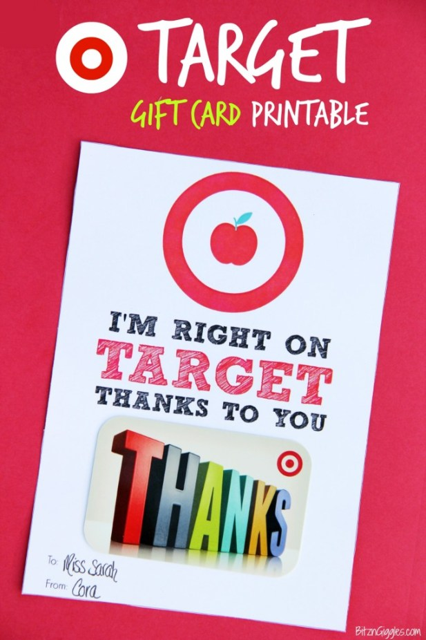 Target Gift Card Thank You
