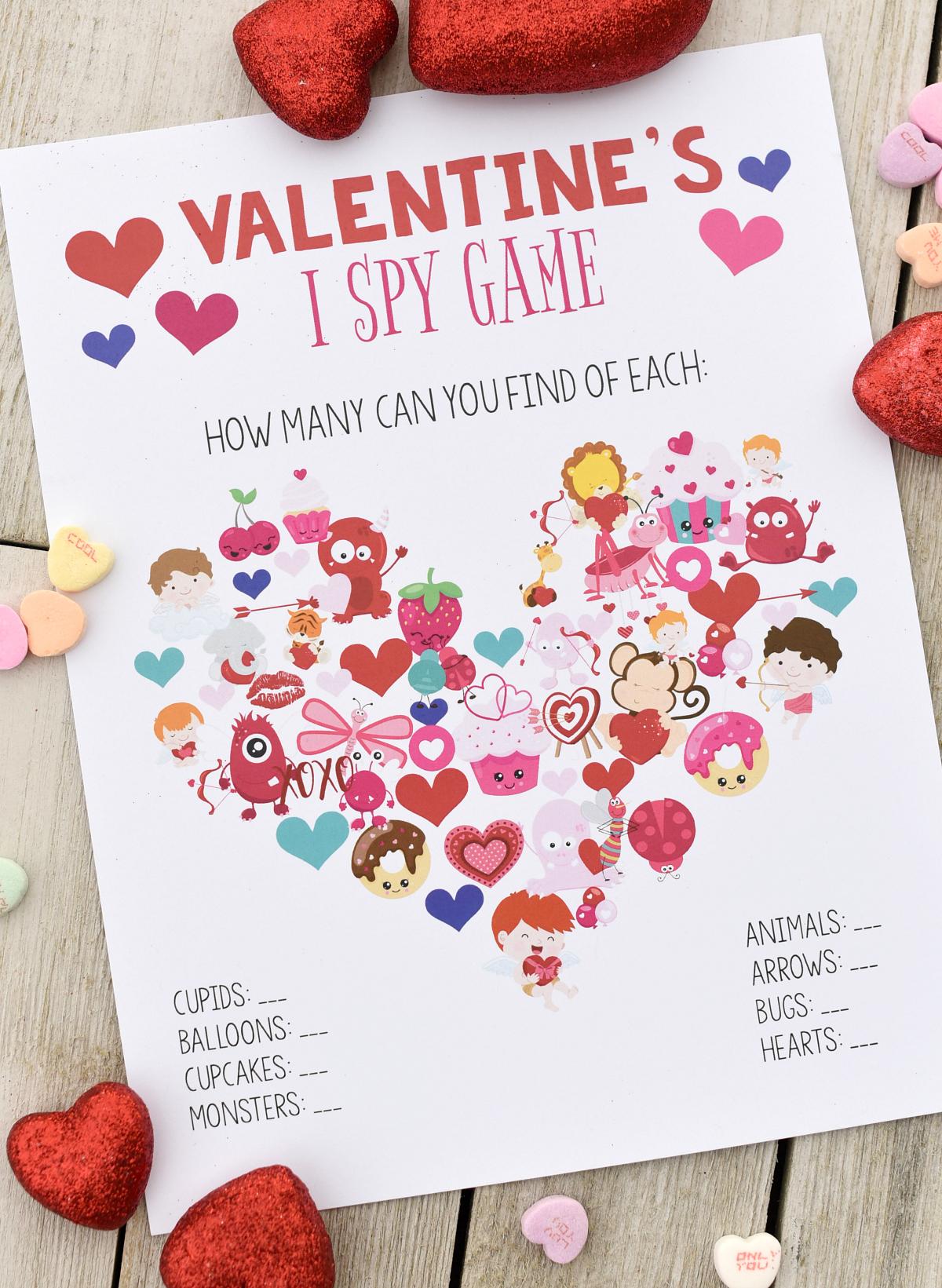 Free Printable Valentine Games