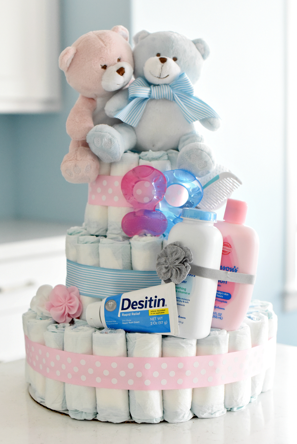 How To Make A Baby Diaper Cake Fun Squared