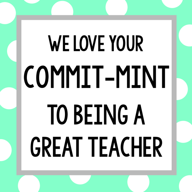 Mint Thank You Gift for Teachers