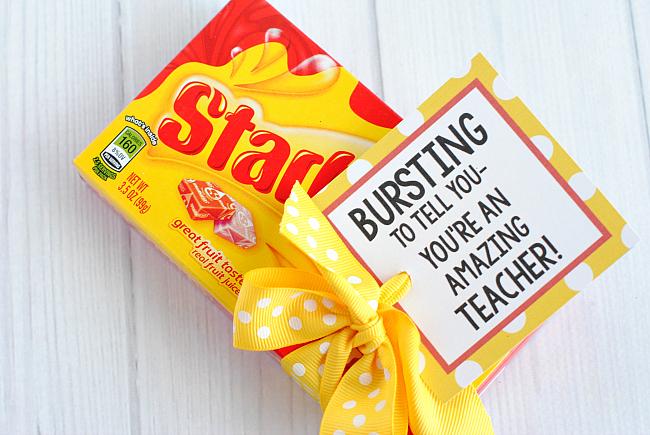 Starburst Teacher Tag