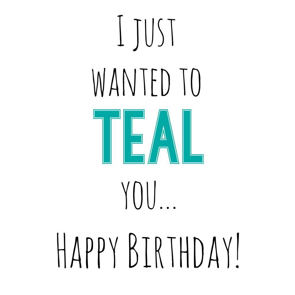 Teal Birthday Gift Tag