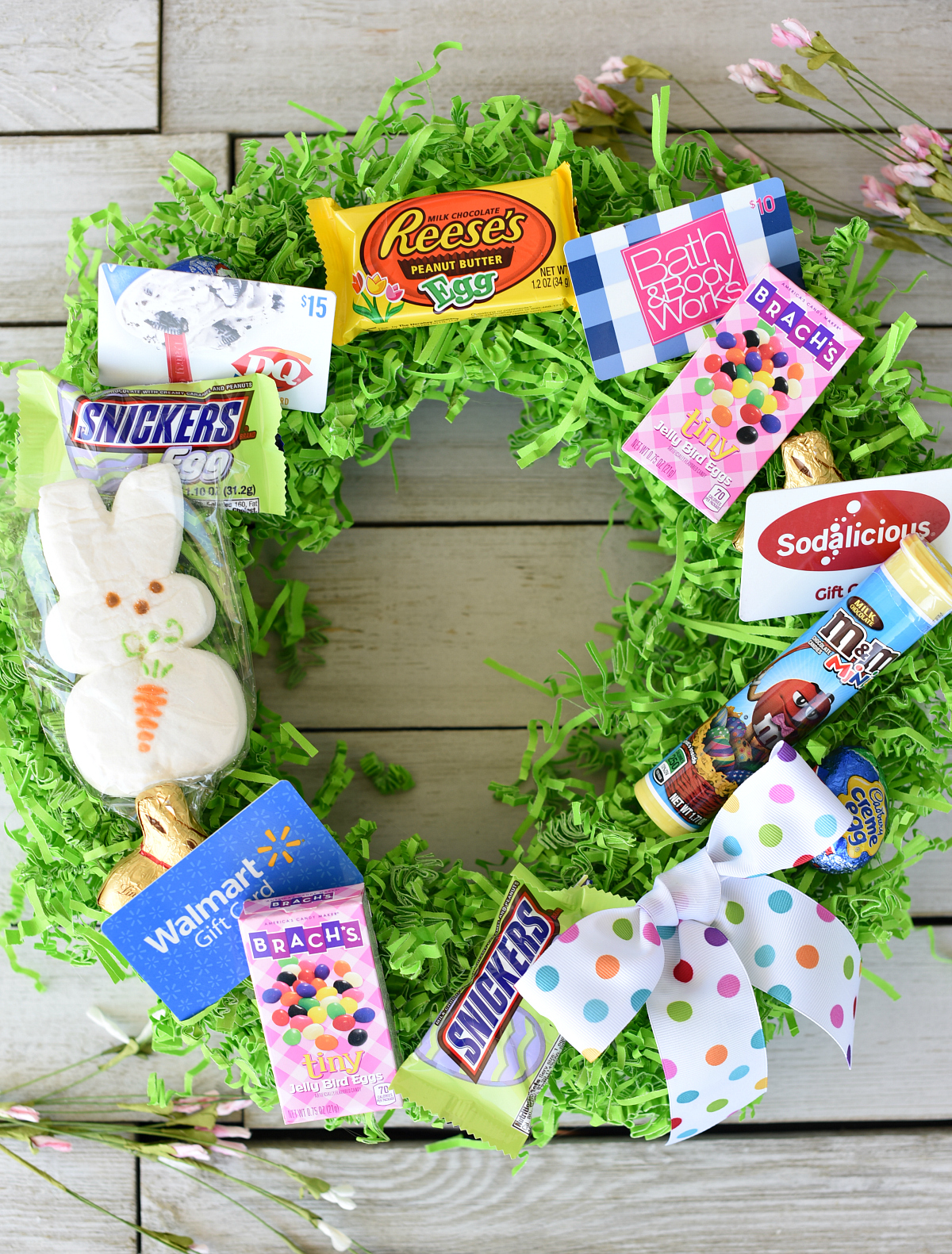 Fun Easter Basket Ideas: Easter Basket Wreath