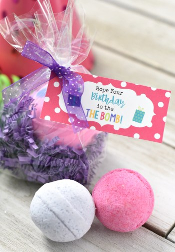 Bath Bomb Birthday Gift Idea
