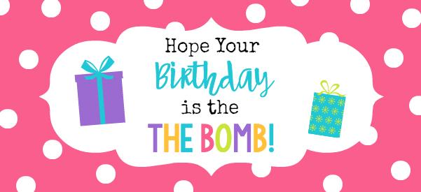 Bath Bomb Birthday Gift Tags