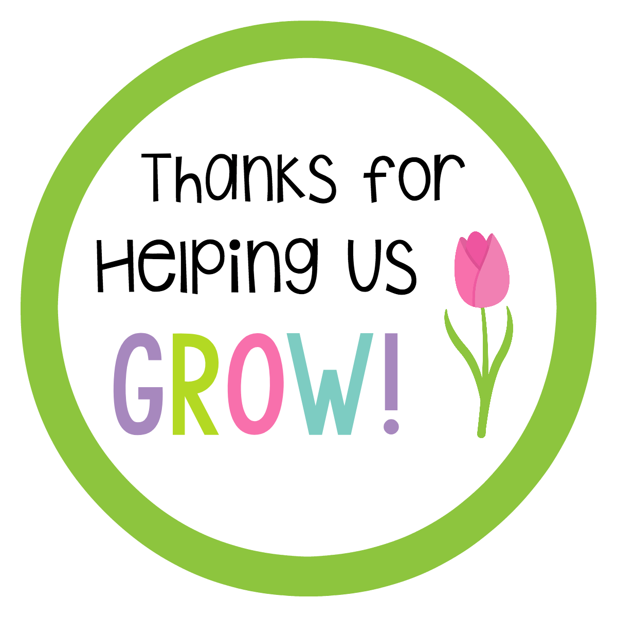 Thanks for Helping Us Grow Teacher Appreciation Tag