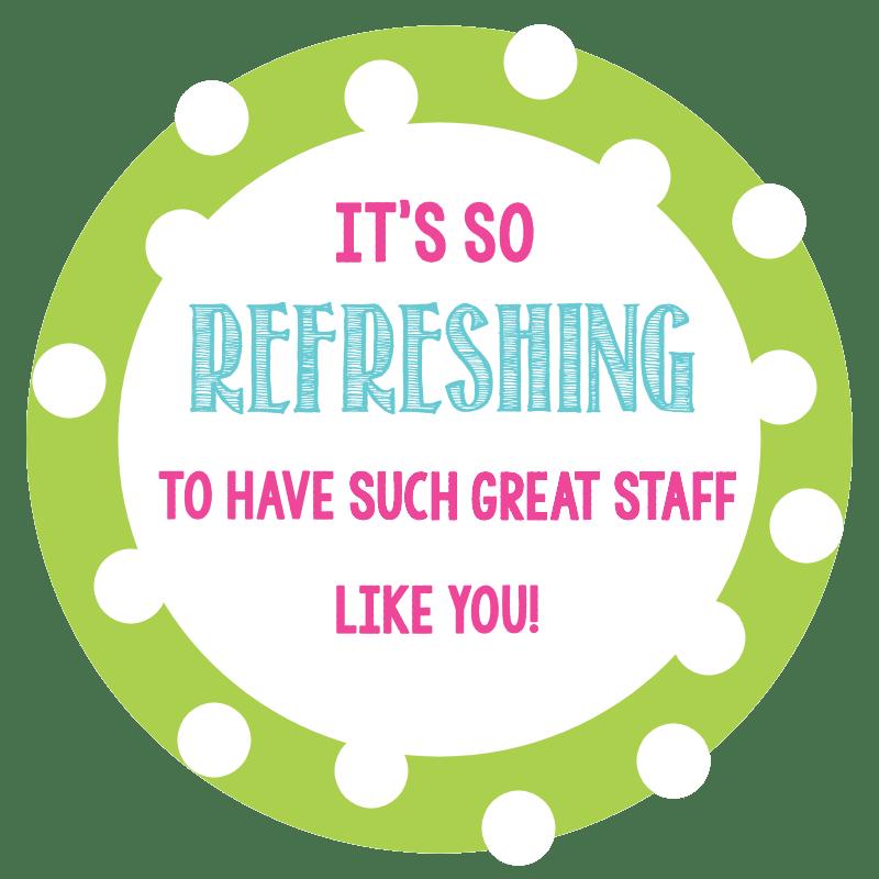 Staff Appreciation Gift Tags