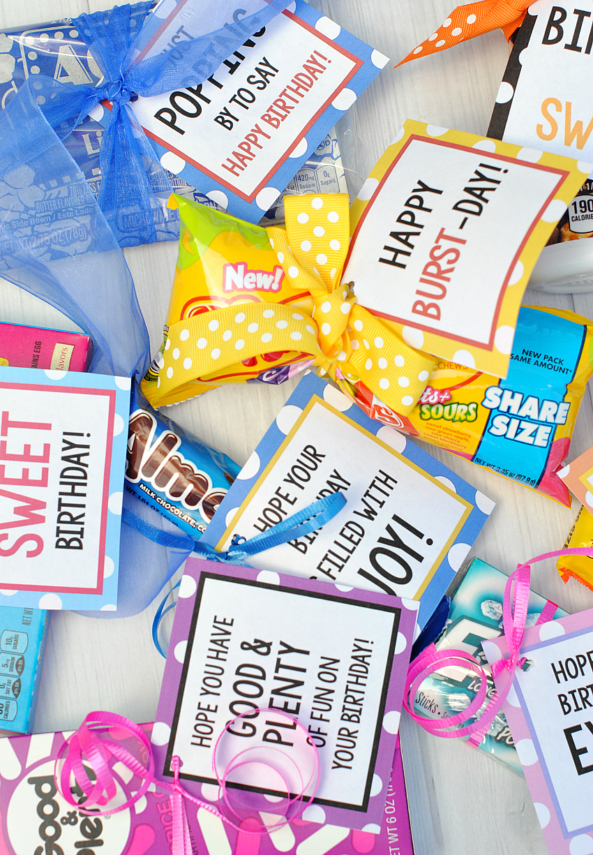 Candy Bar Sayings for Candy Birthday Gifts