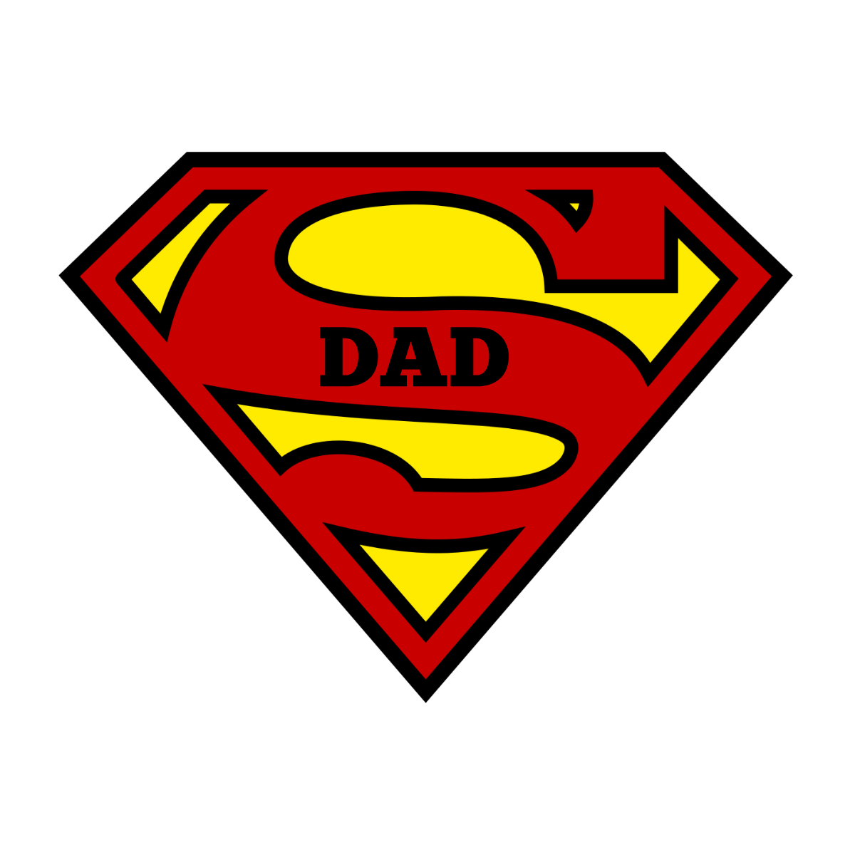 Superhero Dad Tags for Father's Day