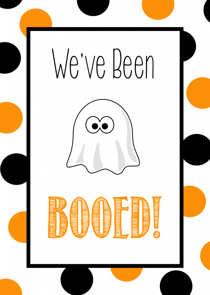 image relating to Booed Signs Printable identify Youve Been Booed - Adorable Cost-free Printable Tags Halloween