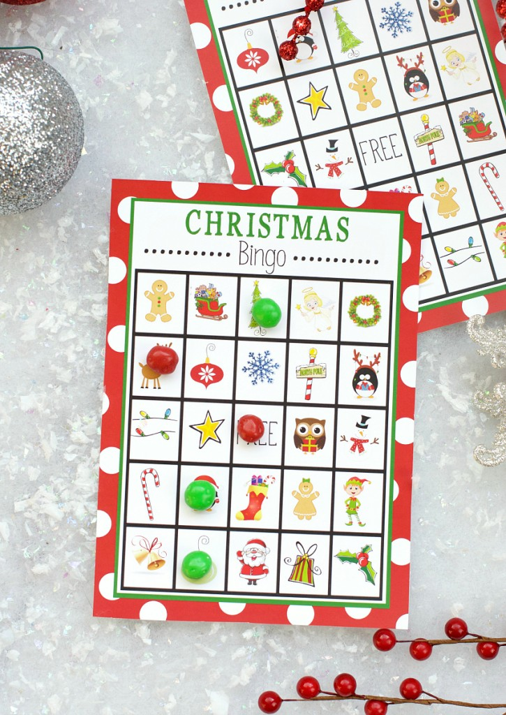 picture relating to Holiday Bingo Printable identified as Free of charge Printable Xmas Bingo Activity Enjoyable-Squared