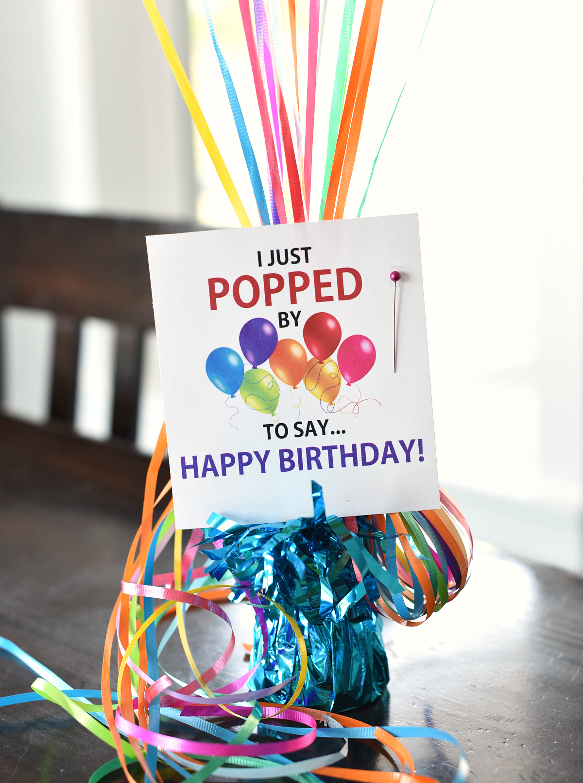 Money Birthday Gift Ideas-Fill balloons with money and add this cute tag