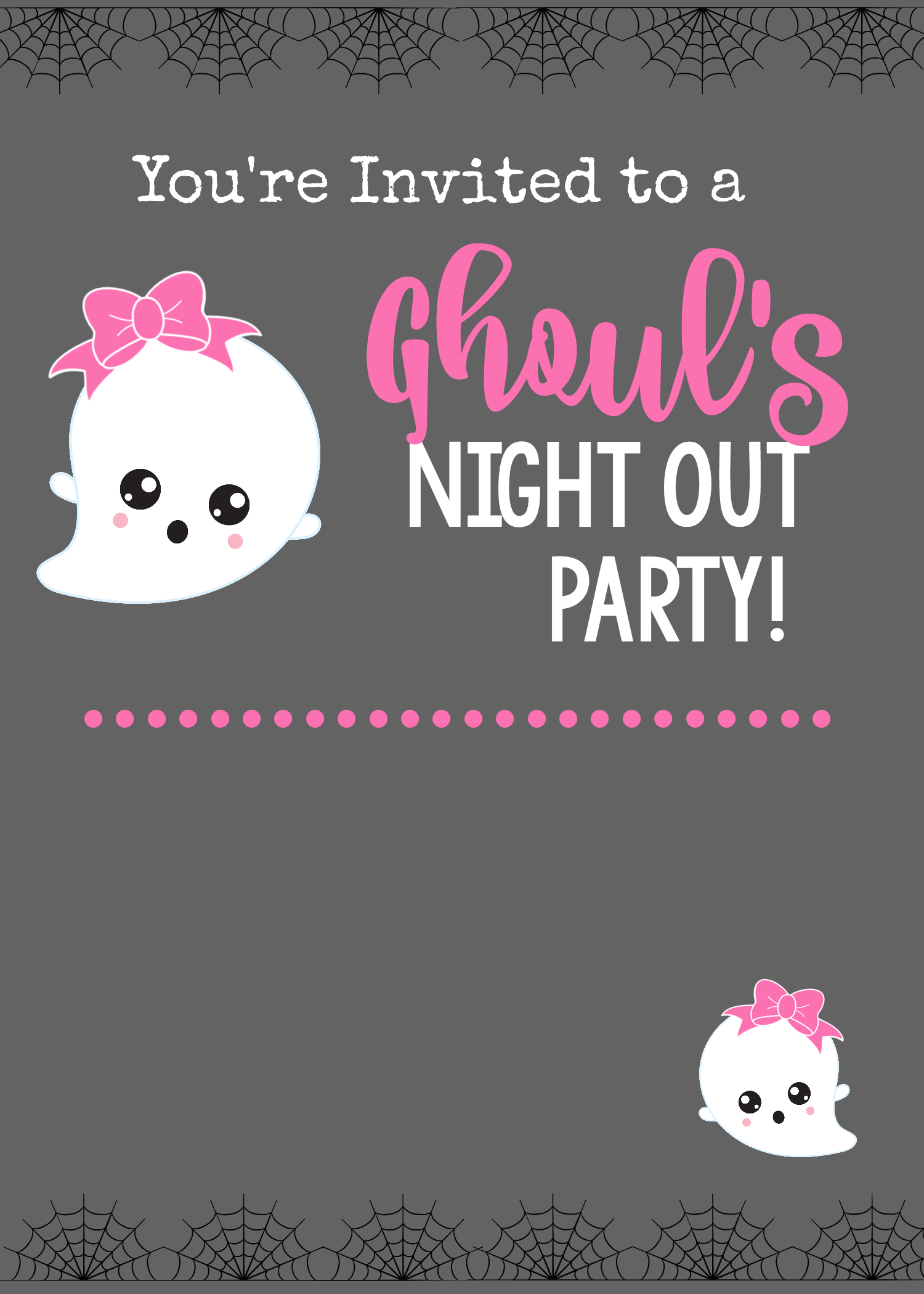 Ghoul's Night Out Party Invitation