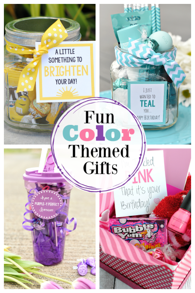 Have fun giving color themed gifts! We have so many fun gift ideas for you, all inspired by a different color. So many simple gift ideas, it's hard to know where to start. #gifts #colorgiftideas #fungifts #fungiftideas #birthdaygifts