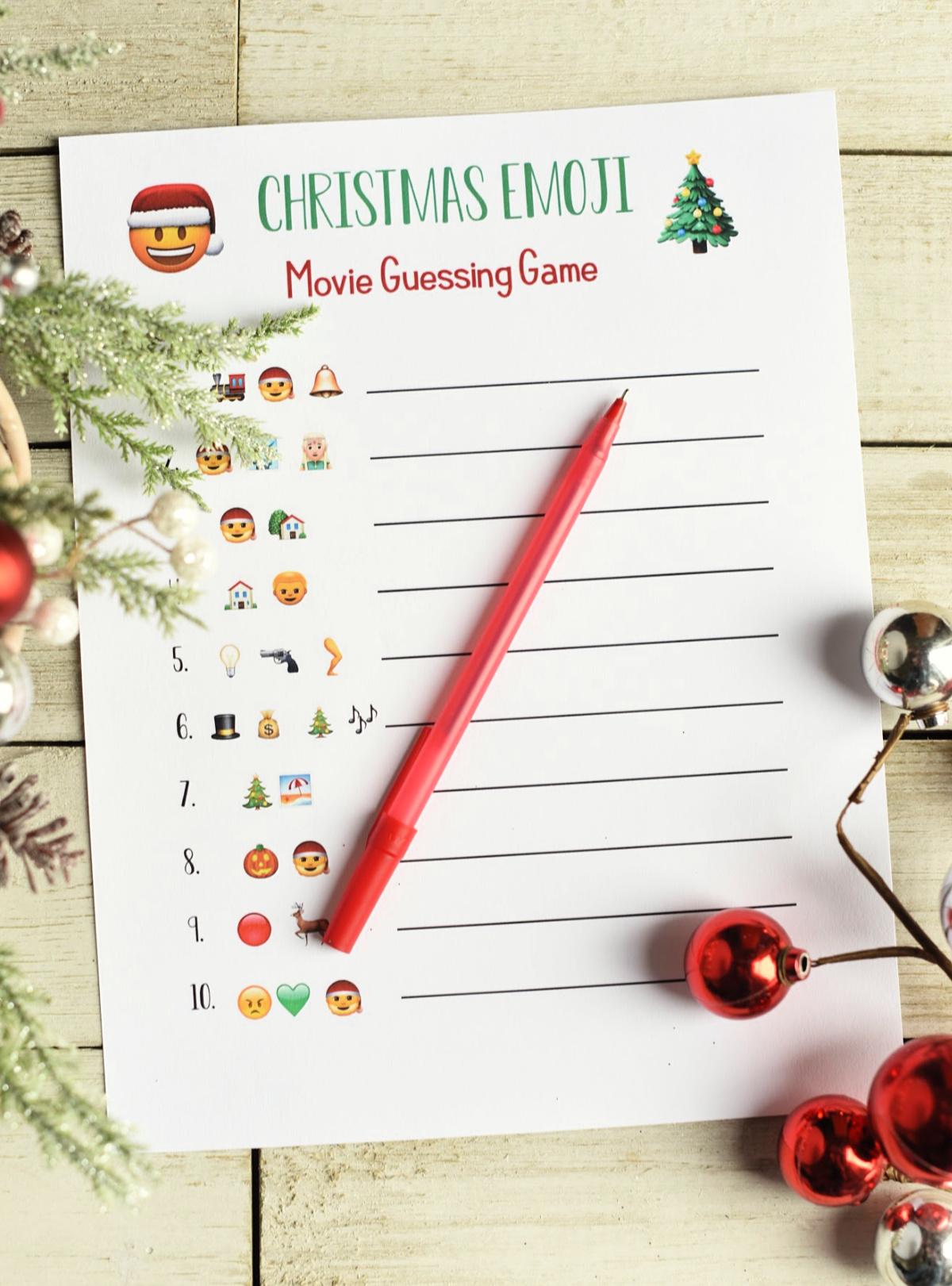 photo about Guess the Christmas Song Printable called Enjoyable Xmas Celebration Video games: Emoji Audio Videos Enjoyable-Squared