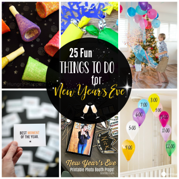 Things to do for New Year's Eve with Kids and Family at home