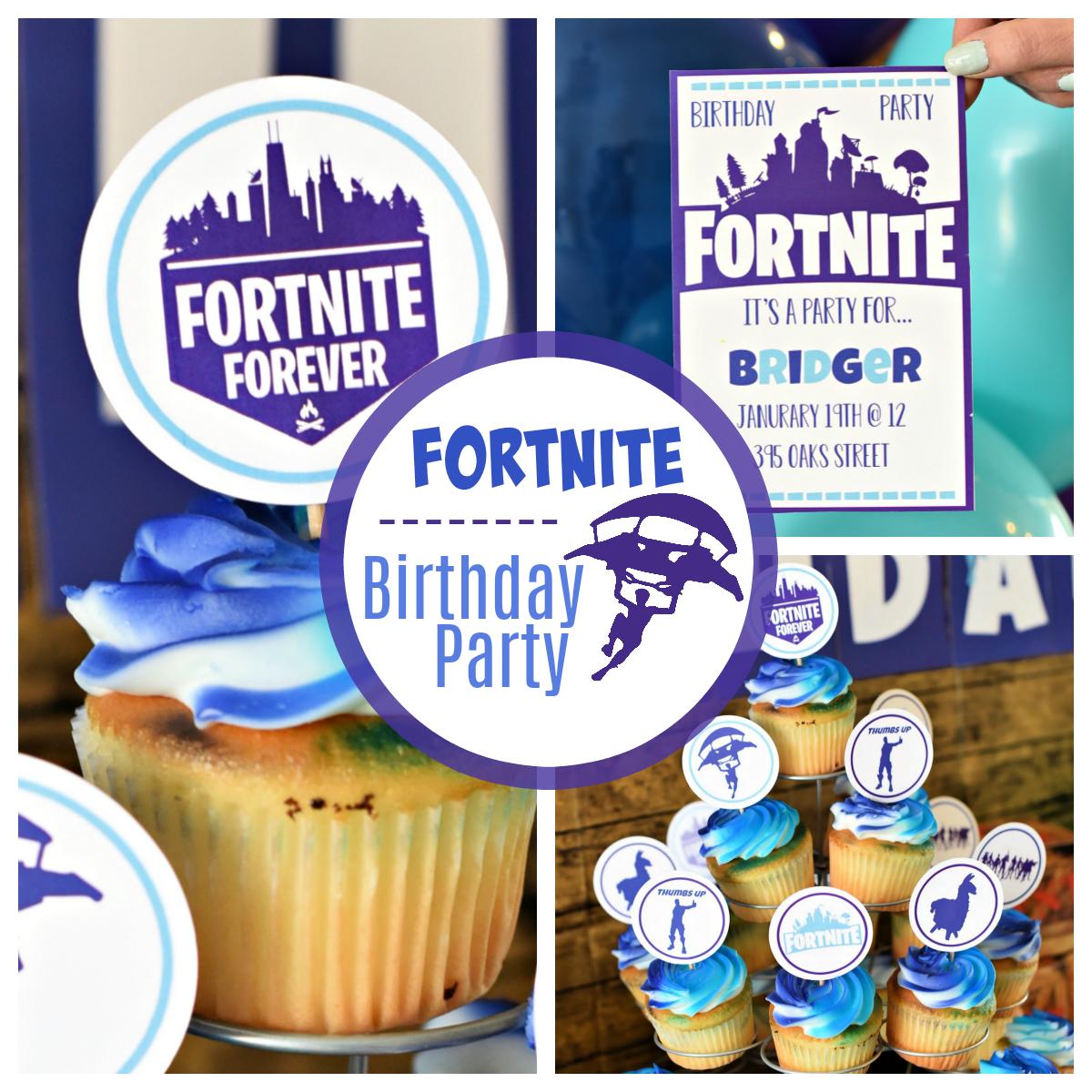 Fun Fortnite Birthday Party Fun Squared