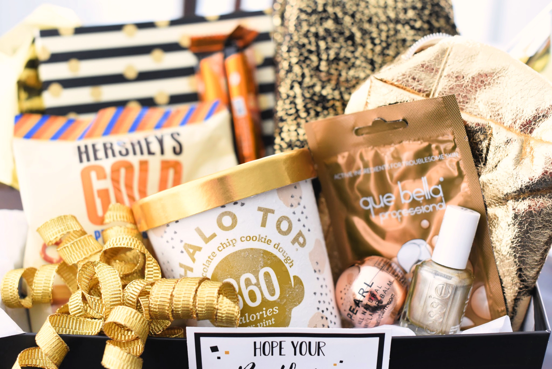 Golden Birthday Gift Basket