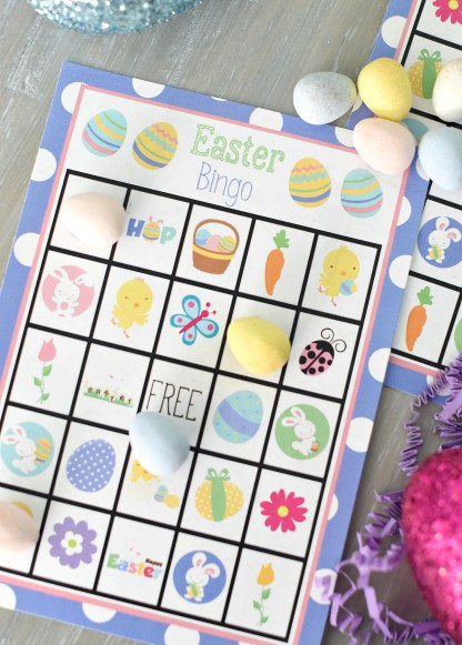 Easter Bingo Game to Print and Play