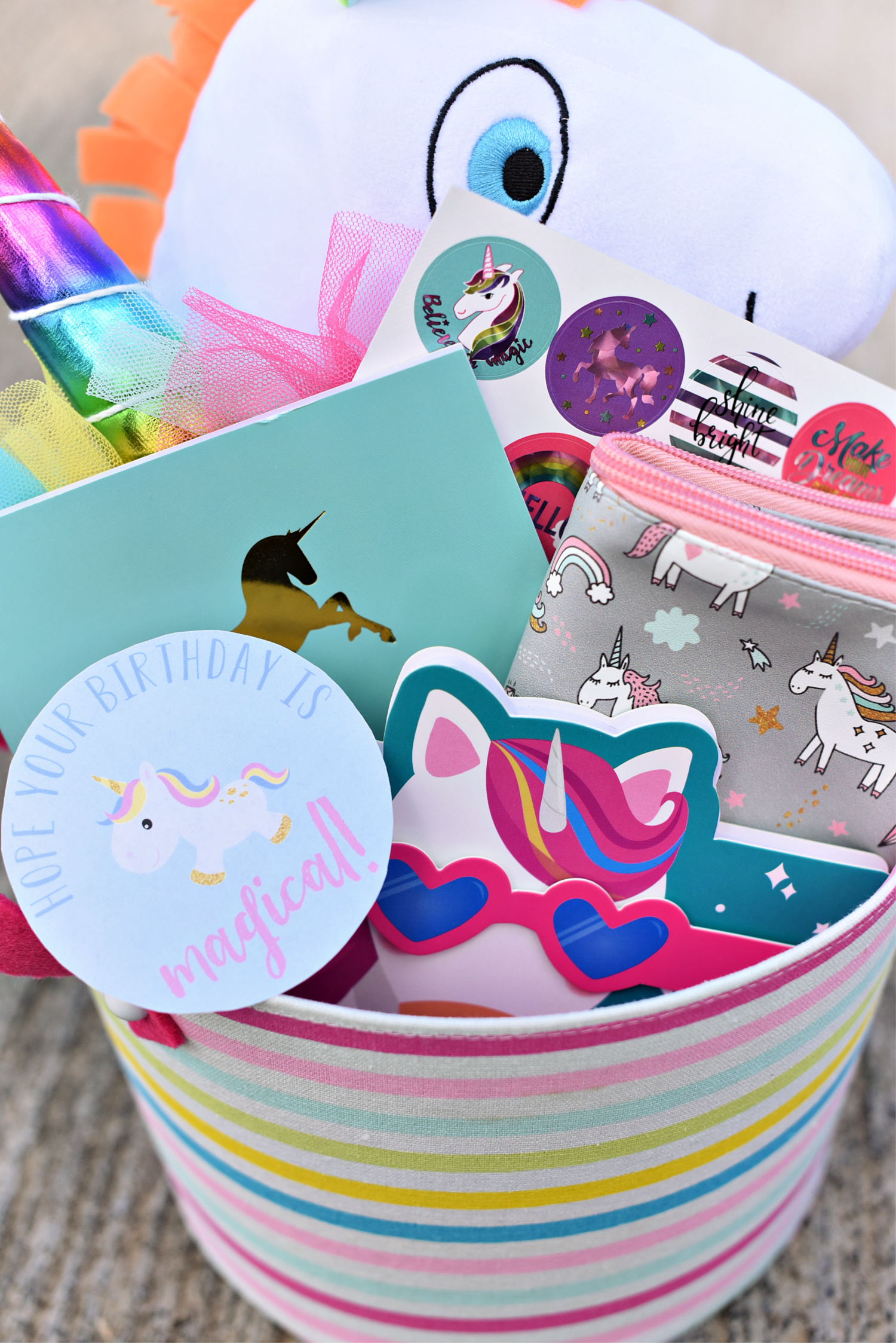 Everyones Probably Searching For Fun Unicorn Birthday Gifts And This One Is Perfect Because You Can Make It As Big Or Small Want Then Add