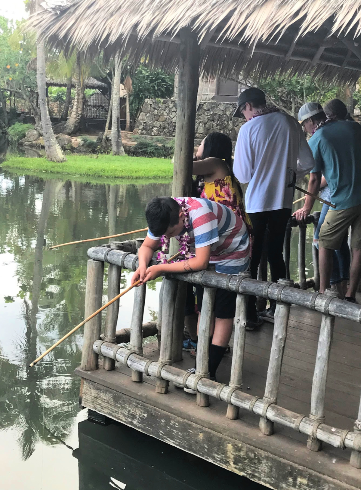 fishing at the polynesian center