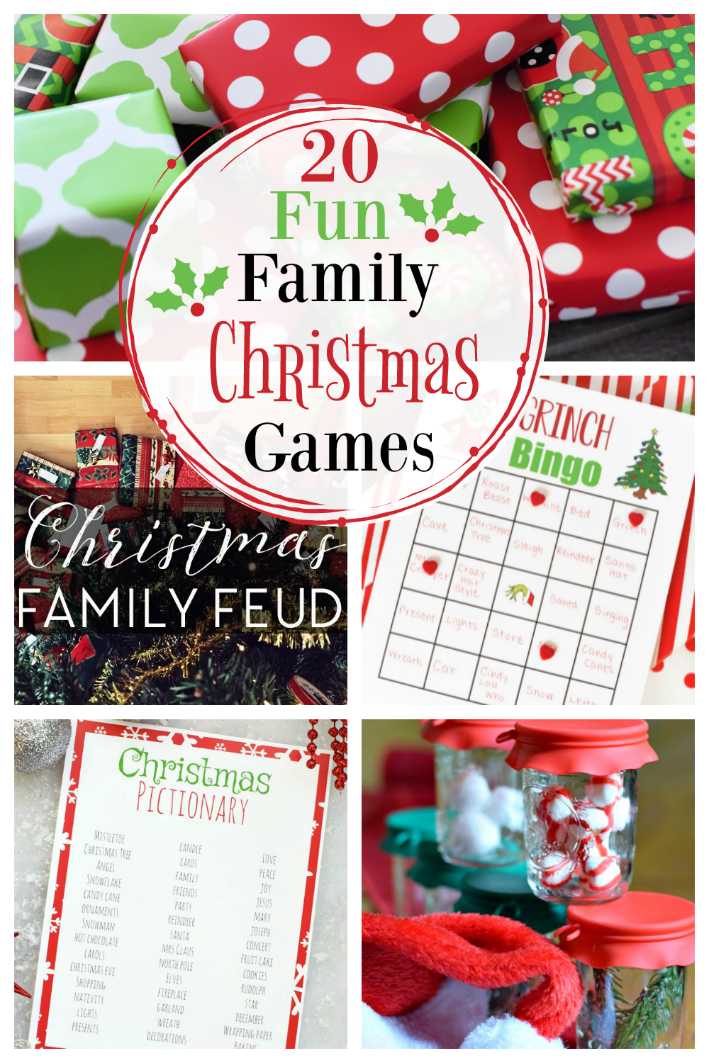 20 Fun Family Christmas Games! We have so many fun and simple Christmas games for your next holiday party! #fungames #Christmasgames #games #Christmaspartygames