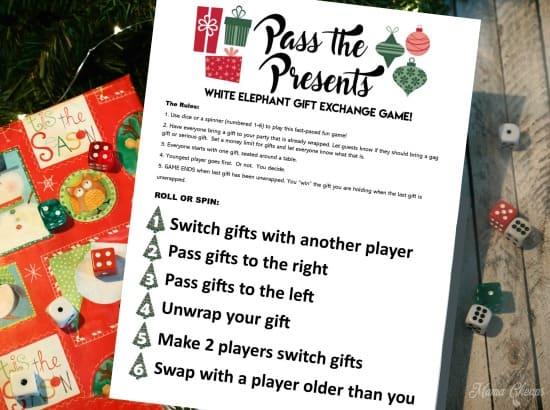 Pass The Present Christmas Game