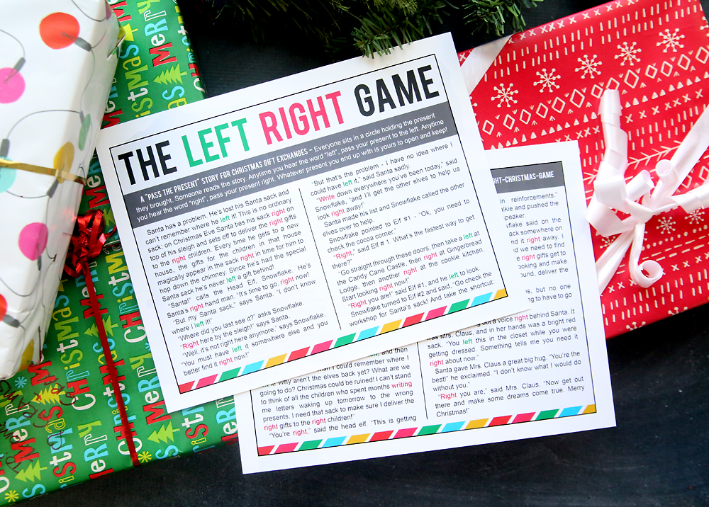 Left Right Gift Exchange Game