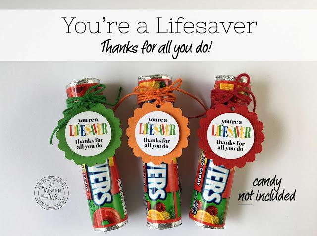 Lifesaver Teacher Appreciation Gift