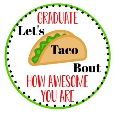 Taco Graduation Gift Tag