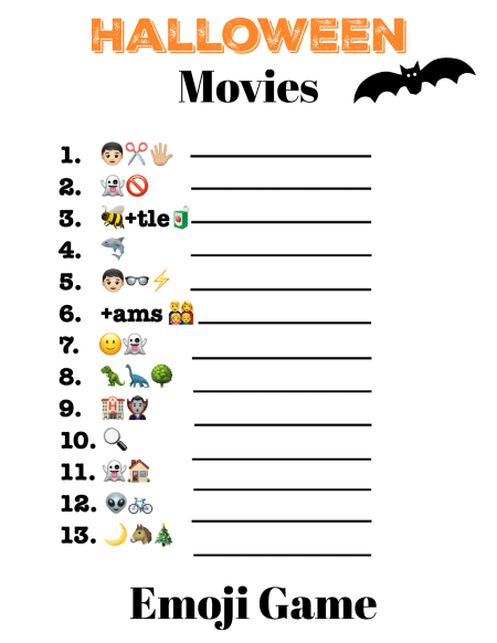 Printable Halloween Emoji Game