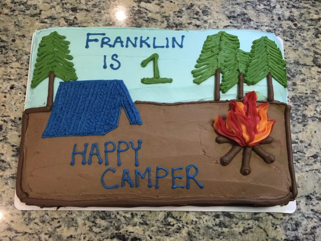 One Happy Camper Cake