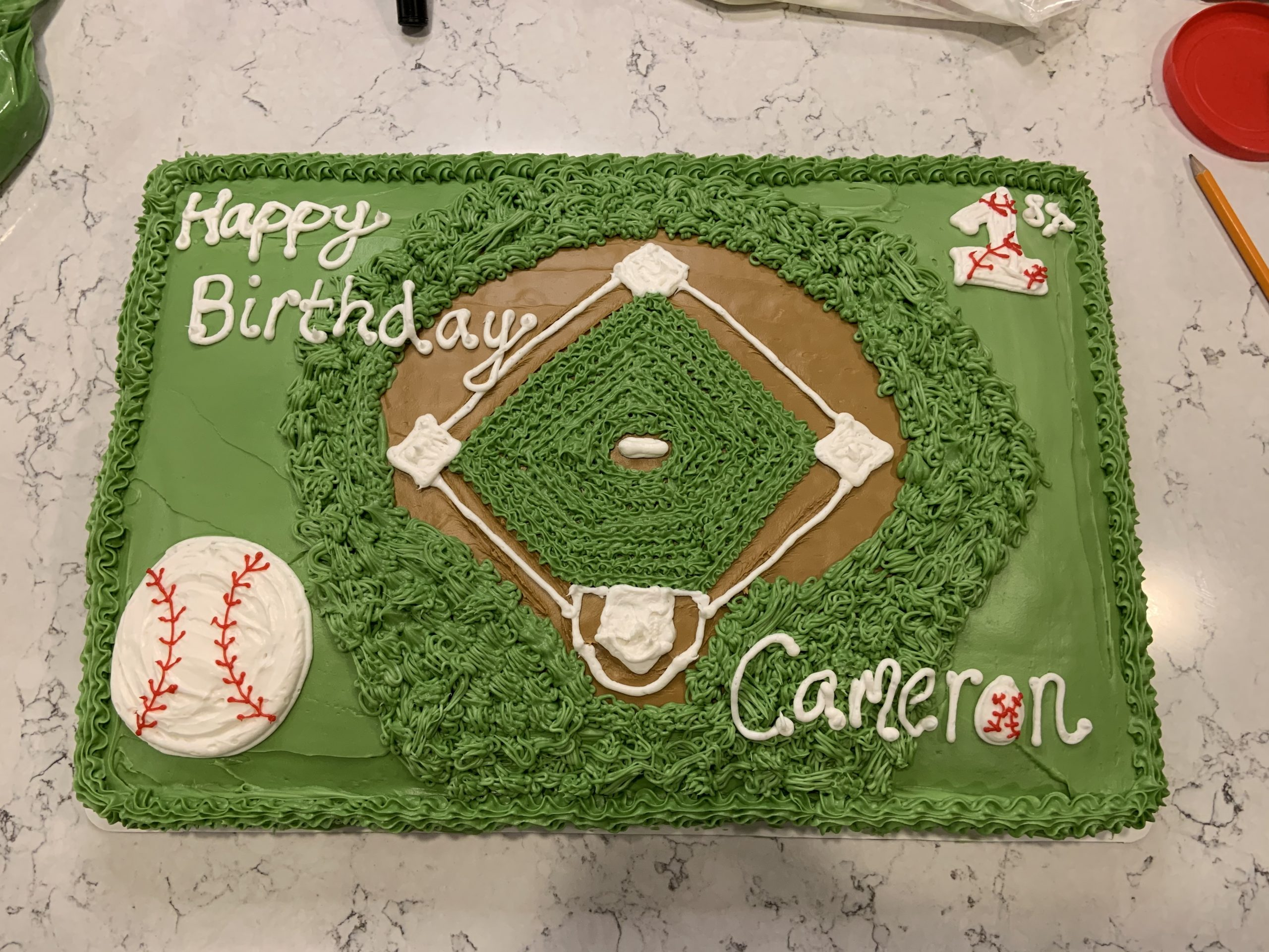 Awesome Baseball Birthday Cake Fun And Frosted Personalised Birthday Cards Epsylily Jamesorg