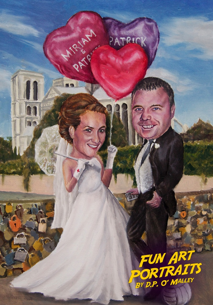 A couple celebrate there wedding in Paris with balloons