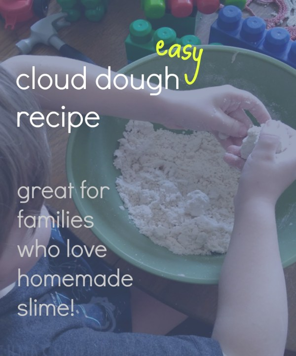 Easy Recipe for Cloud Dough from @FunAsYouGrow
