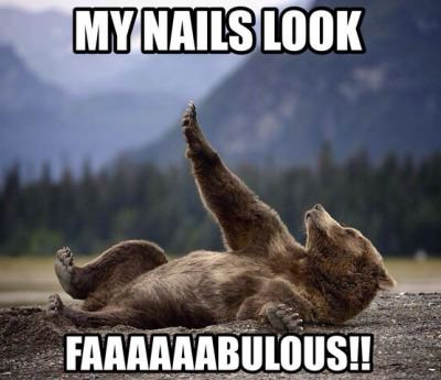 He likes his nails
