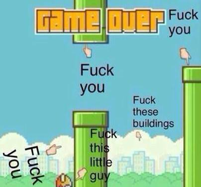 How I feel about Flappy Bird