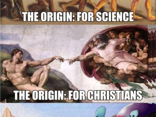 George , who created man ??