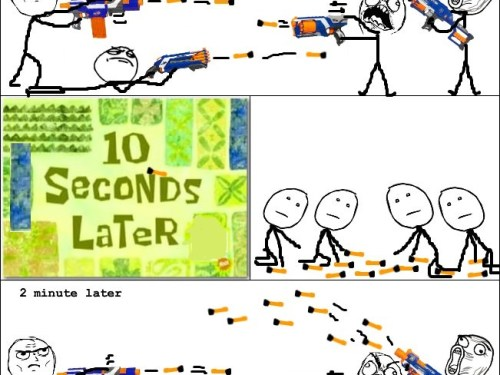 Nerf War in a Nutshell.